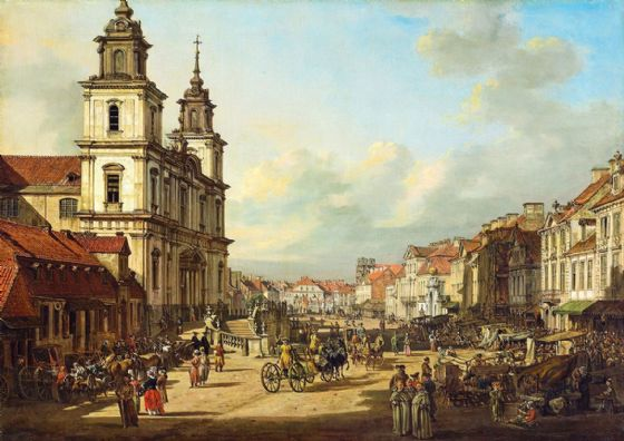 Bellotto, Bernardo: Church of the Holy Cross in Warsaw. Fine Art Print/Poster (4345)